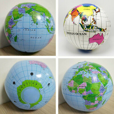 30cm Inflatable World Earth Globe Atlas Map Geography Beach Ball Effective lskn