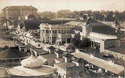 San Diego CA Exposition Aerial View Real Photo Postcard