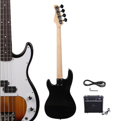 New Sunset Glarry GP 4 Strings School Band Electric Bass Guitar with AMP