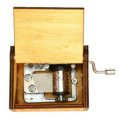 Retro Wooden Hand Cranked Music Box Christmas Gift Party Household Decor