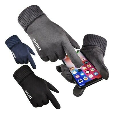 Winter Thermal Warm Gloves Running Jogging Hiking Walking Touch Screen Windproof