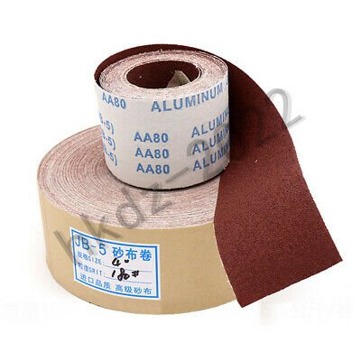 Abrasive Sanding Roll 80 - 600 Grit Sand Paper Sheet Metal Wood Burnish Tools