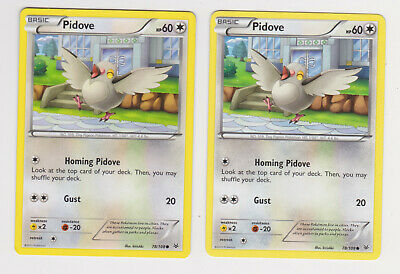 Pidove 78//108 Common Pokemon Card Roaring Skies Set 2015