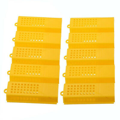 2pcs Queen Bee Control Cage Bee Trapping Tool Plastic Clear 10cm//4inch