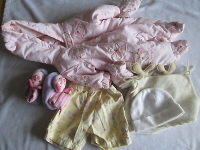 Bundle of baby girl clothes. 6 items - Mothercare, Next, Disney.