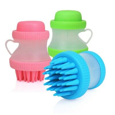 Cup Shape Pet Bath Brush Comb Cat Dog Cleaning Massage Grooming Brush lskn