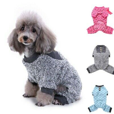 Pet Dog Puppy Cat Sweater Pajamas Jumpsuit Jumper Clothes Costume Apparel Warm