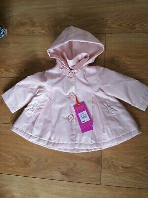 Ted Baker Baby Girls Light Pink Jacket Mac Coat Age 3-6 Months
