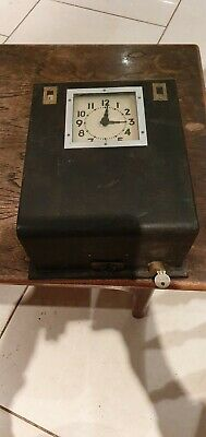 Vintage  Clocking In Machine Factory Industrial Shop Display Trade Union
