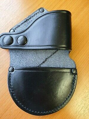 Leather Handcuff Holder Pouch Speedcuff Quick Cuff Police Security