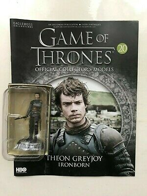 Game Of Thrones Issue 20 Theon Greyjoy Eaglemoss Figure Collector's Model