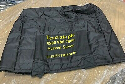 PC TFT Monitor IT Screen Saver Quilted Protector Bag Removals Velcro Cover