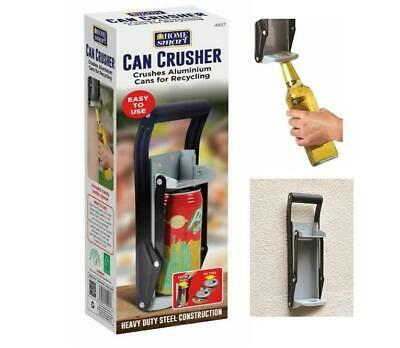 Can Crusher Recycling Tool Wall Mounted 350ml 2 in 1 Beer Tin Bottle Opener