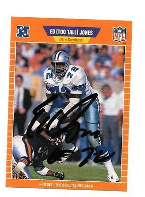 Ed Too Tall Jones   SIGNED / Autographed Inperson  Card NFL  Cowboys