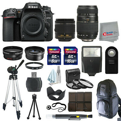 Nikon D7500 Digital SLR Camera 4 Lens Kit 18-55mm VR + 70-300 + All You Need Kit