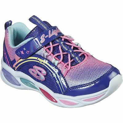 Skechers Shimmer Beams Blue/Multi Childrens Sports Textile