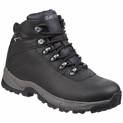 Hi-Tec Eurotrek Lite Waterproof Dark Chocolate Mens Hiking Boots Coated Leather