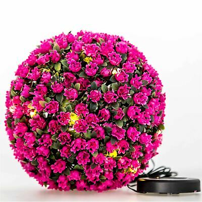 Artificial 28cm Green Boxwood Buxus Topiary Grass Hanging Balls New Plant Pink