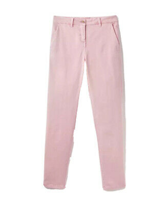 Joules Womens Hesford Chinos Trousers in PALE PINK Size UK 18