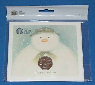 2018 ROYAL MINT SNOWMAN 50p COIN UNOPENED PRESENTATION PACK as issued