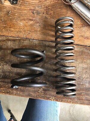 """Reclaimed Large Old Metal Springs Heavy Duty Industrial Steampunk 9"""" & 4"""" Tall"""