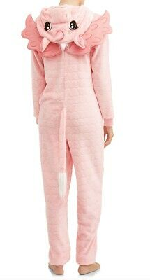 Pink Unicorn Pajamas One Piece Union Suit Hooded Costume Womens New 3XL Cosplay