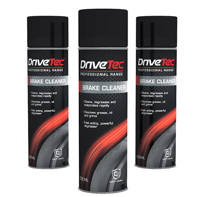 *****3 X 500Ml Drivetec Professional Brake Cleaner*****