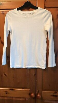 Girls Age 7 Years Next Cream/Off White Long Sleeved Top
