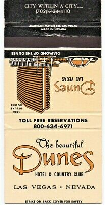 Dunes Hotel And Casino Vintage Matchbook Cover Las Vegas Nevada (3)