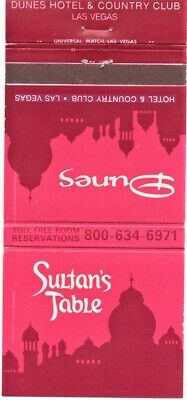 Dunes Hotel And Casino Vintage Matchbook Cover Las Vegas Nevada (4)