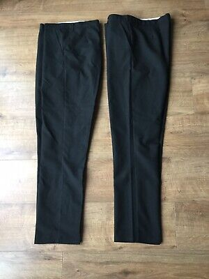 """BNWOT 2 X Pairs Of M&S Mens / Boys Black Trousers - Size 34"""" Waist"""