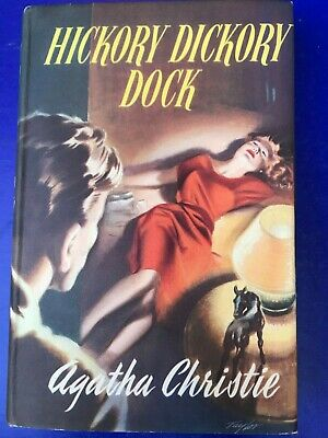 1950s vintage Hickory dickory dock Agatha Christie 1956 Hardcover Illus. taylor