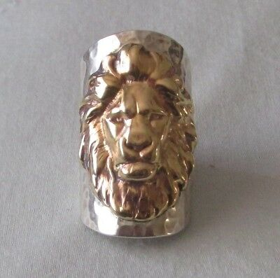 Sterling Silver Ring.classic Detailed Leo The Lion. Size  S1/2 Gift Box Included