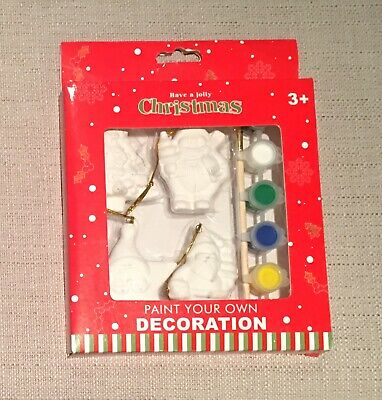 Paint Your Own Ceramic Christmas Tree Decorations Baubles Kids Craft Activity