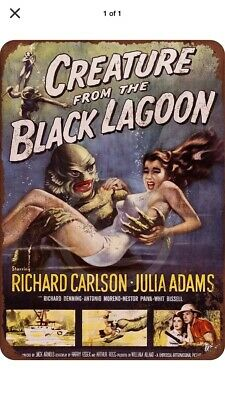 1960/'s Horror Movie Creature From The Black Lagoon Aluminum License Plate