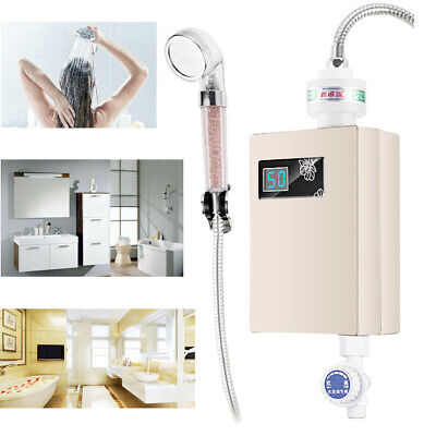 Electric Hot Water Heater Outdoor Camping Caravan Instant Shower System