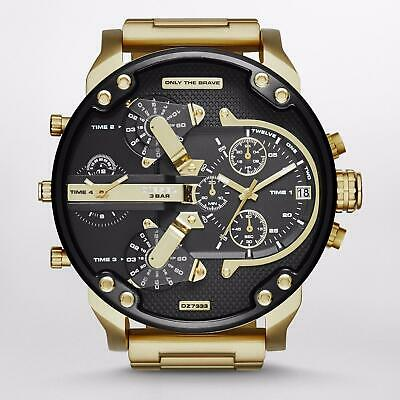 DZ7333 MR DADDY 2.0 Gold Multiple Time Chronograph Men's Watch Stainless Steel