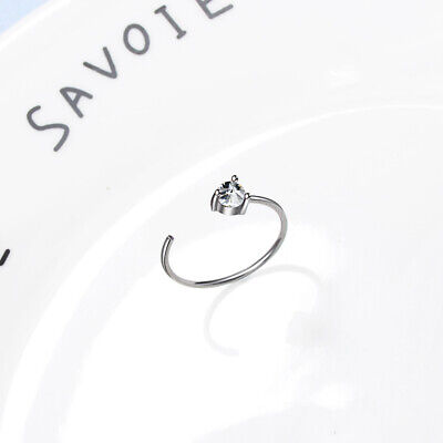 Band Ring White Black Cubic Zirconia Rings for Women Teen Girls Size Adjustable