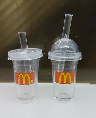 Coles Little Shop Mini Collectables - 2 Mini McDonalds Drinking Containers