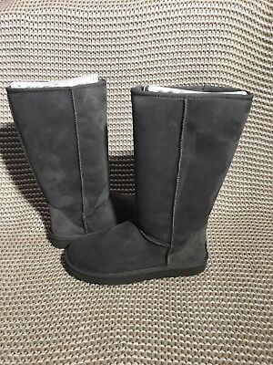 UGG Australia Classic Tall Grey Gray Suede Sheepskin Boots Size US 7 Women
