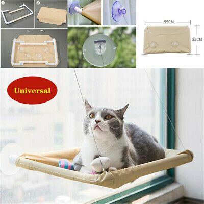 Cat Window Seat Bed Mounted Pet Perch Shelf Basking Sunny Cushion Mount 50pounds