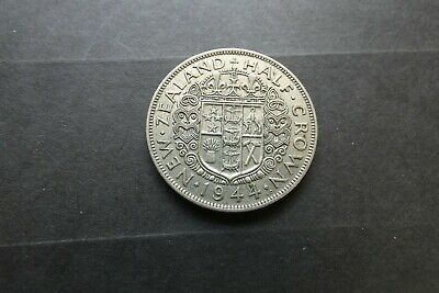 1944 Lovely Very Fine Silver Half Crown  Rarest