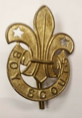 Ca1910 Original Large Pressed Metal Boy Scout Hat Badge
