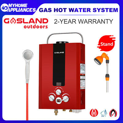 GASLAND Gas Hot Water Heater Portable LPG Outdoor Camping  Shower Stand Caravan