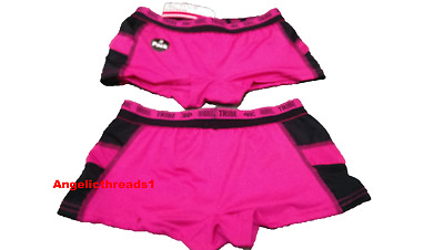 Primark kids Girls Hot Pink Boxers Shorts Knickers Underwear pack Of 2
