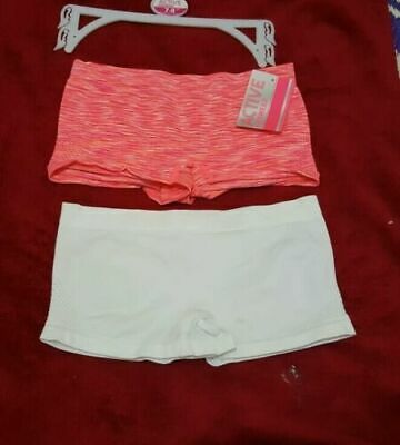 2 x Girls Primark Hot Pink/Cream Boxers Shorts Knickers Underwear Age 7/8,9/10