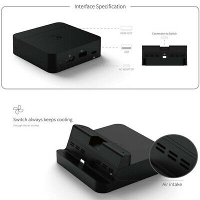 Practical For Nintendo Charging Dock Stand-Switch Table Charger Station TV Mode