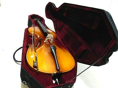 Student 3/4 Size Cello with Case, Antique Fade, by Gear4music-DAMAGED-RRP £198