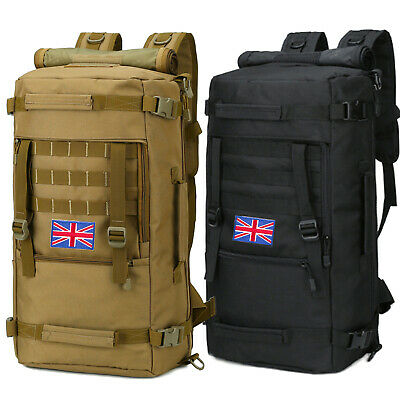50L Military Tactical Molle Backpack Rucksack Waterproof Army Pack Camping Bag