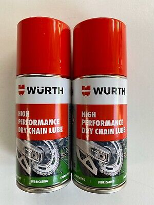 **2 X 150ml WÜRTH HIGH Performance Dry Chain Lube Motorcycle IDEAL TRAVEL SIZE*i